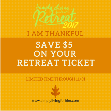 Simply Living for Him Retreat Discount