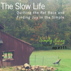 Slow Living. Quitting the Rat Race and Finding Joy in the Simple •ep 111
